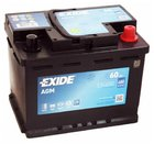 Аккумулятор EXIDE AGM 60Ah 680А обр.пол. Евро L2
